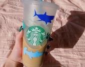 Sea Creatures Reusable Starbucks Cold Cup