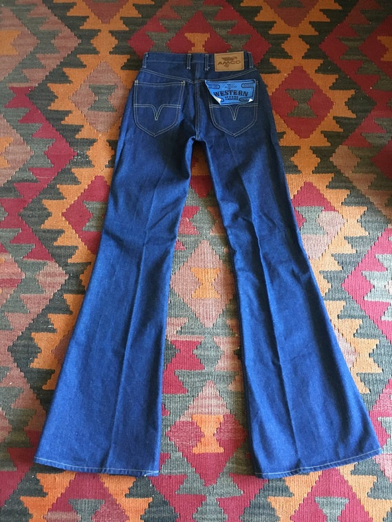 Vintage 70s High Waisted Denim Flares Jeans / 70s