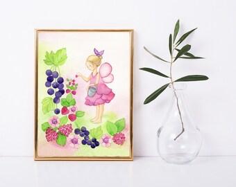 little Girl Room Art Little Girl Print Nursery Watercolor Nursery Print Art for Little Girl Gift Finland