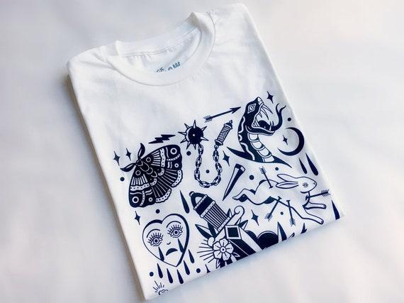 d4512e08b Horror Vacui tee limited edition tattoo tshirt alternative | Etsy