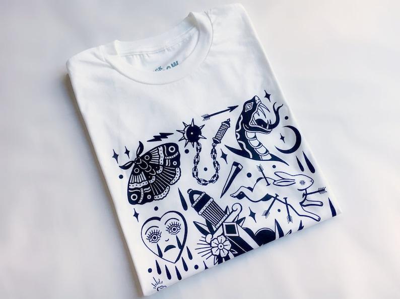 60a68492ff24 Horror Vacui tee limited edition tattoo tshirt alternative