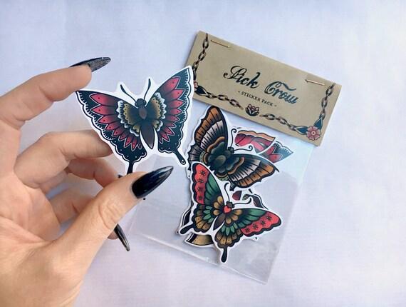 Butterfly Sticker Pack Tattoo Tattoos Stickers Sticker Etsy