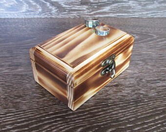 Wooden Box Wooden Jewelry Box Jewelry Storage Wooden Box Wooden keepsake box  jewelry box Gifts box Ring box keepsake Craft box