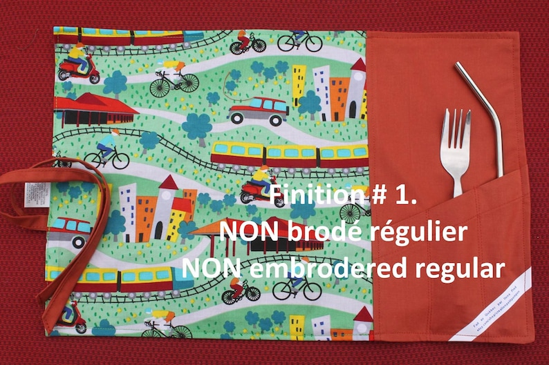 Embroidered or non-embroidered message hero to roll for lunch box home License cotton flannel nape outdoors daycare school