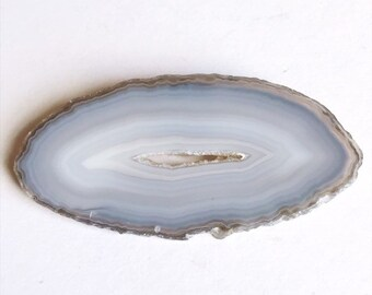 Gray agate decor | crystal decor | mineral accents