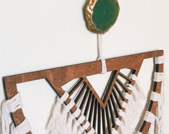 Green decor - unique home decor - Agate Wall Mount - Wall hook - cover exposed screws and nails