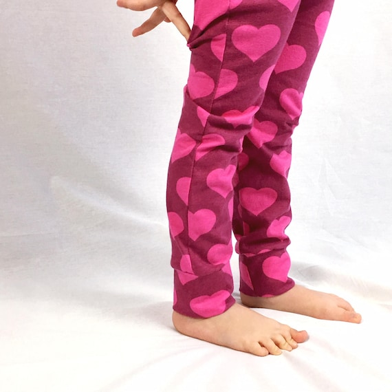 In Pink Heart Printed Pants Excellent Quality