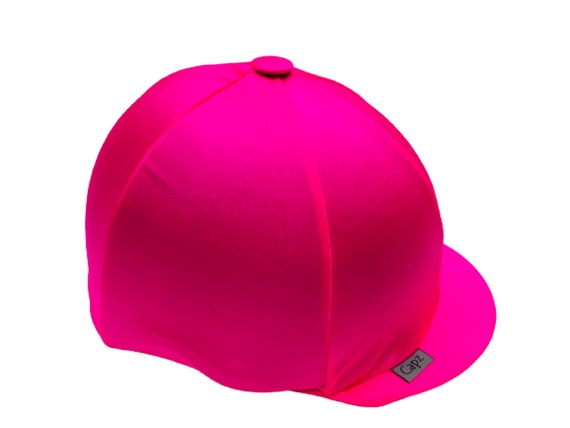 HI Vis Riding Hat Cover Equestrian Horse Skull Cap Cover Pink With Silver Stars Bicycle Helmet Cover One Size Fits All