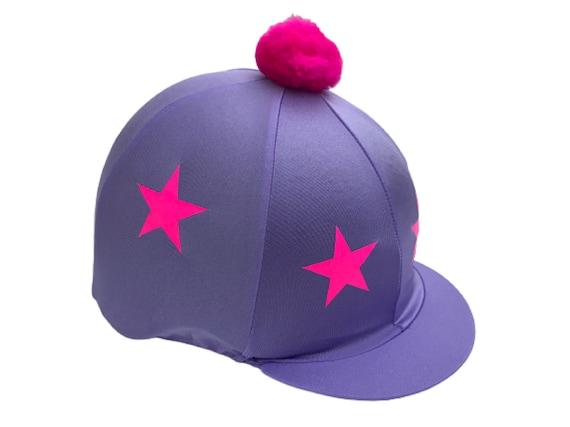 BLACK /& WHITE STARS RIDING HAT SILK COVER FOR JOCKEY SKULL CAPS ONE SIZE