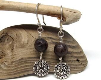 Hand Carved Arrang wood Earrings