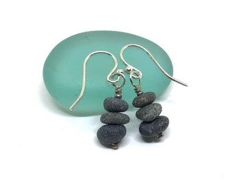 Pacific North West pebble cairn earrings