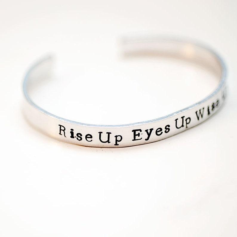 f1cb930847b2b rise up quote, hamilton, cuff with words, quote bracelet, hamilton lyrics,  best friends gift, hamilton gift, cuff bracelets