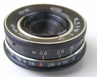 Russian Lens Industar 69 28mm F/2.8 USSR M39