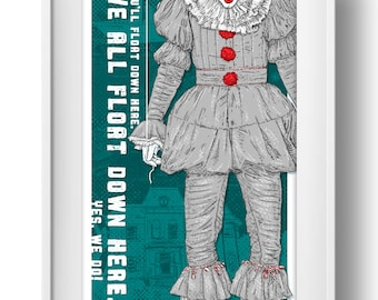 PENNYWISE - It - Art Print - Wall Art - Stephen King