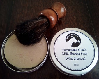 Goat Milk Shaving Soap Unscented with Oatmeal