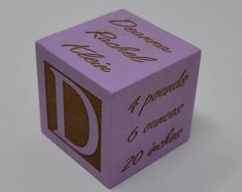 New Baby Gift, Baby Block New Baby Gift Newborn Baby Gift Personalized Baby Gift Newborn Gift Wooden Baby Block