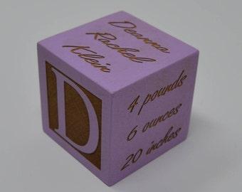 New Baby Gift / Newborn Baby Gift / Personalized Baby Gift / Newborn Gift / Wooden Baby Block / Personalized baby block / Nursery decor