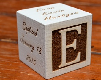 Personalized Baptism gift, Christening gift, Unique baptism gift, baby keepsake, Christening, baby baptism gift, Baptism block, Baby block