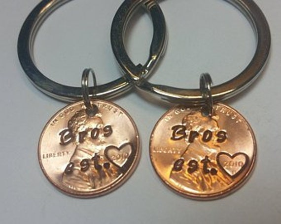 Personalised Double Sided Keyring Brothers Best Brother Ever Gifts Presents UK