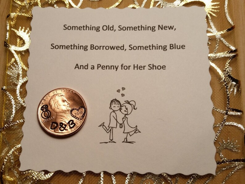 Wedding Day Lucky Penny Lucky penny for her shoe Bride gift image 1
