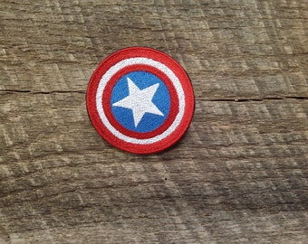 Captain America Embroidered Patches