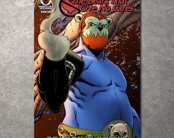 Bears That Give No Cares Coloring Book Trapjaw Edition - Free Shipping!
