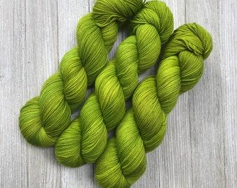 Lemongrass - Super Sock - Indie Sock Yarn, Indie Dyed Yarn, Speckled Sock Yarn, Hand Dyed Yarn, Sock Yarn,