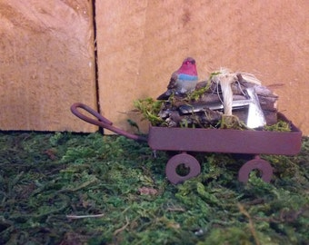 Miniature Fairy Wagon or Doll House Wagon