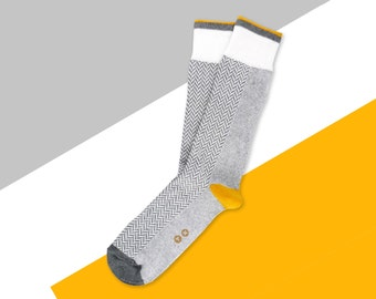 Grey Socks- Mens Socks. Mens Casual Socks. Patterned Socks. Novelty Socks. Fun Socks. Cool Socks. Tennis Socks. Gift Socks