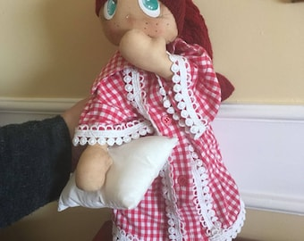 Cloth Doll. Rag Doll. (Hand made, handmade, Russian doll)