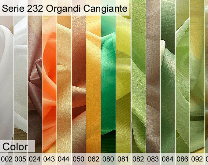 232 organdy Cangiante Sample 6x10 CM