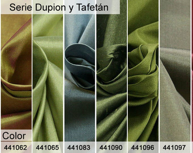 Dupion and Taffeta 6x10 CM samples