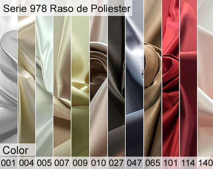 978 Polyester Satin Sample 6x10 CM