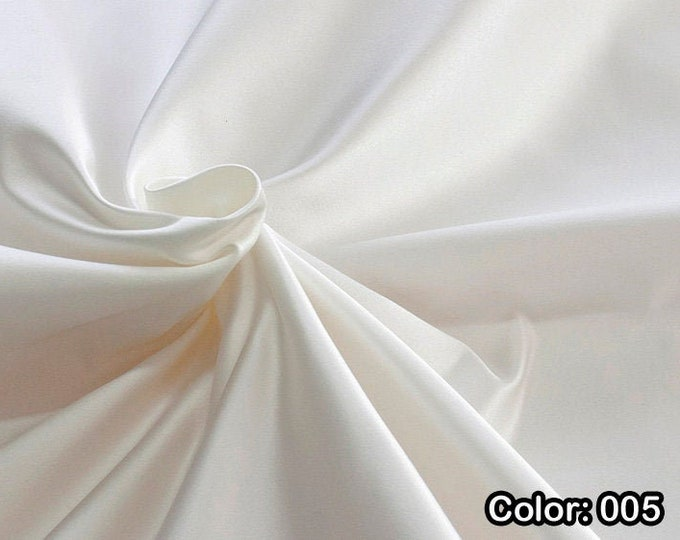 Raso 876, 1st Part - Natural Silk 100%, Width 135/140 cm, Dry Wash, Weight 190 gr, Price 0.25 meters: 31.69 Euros