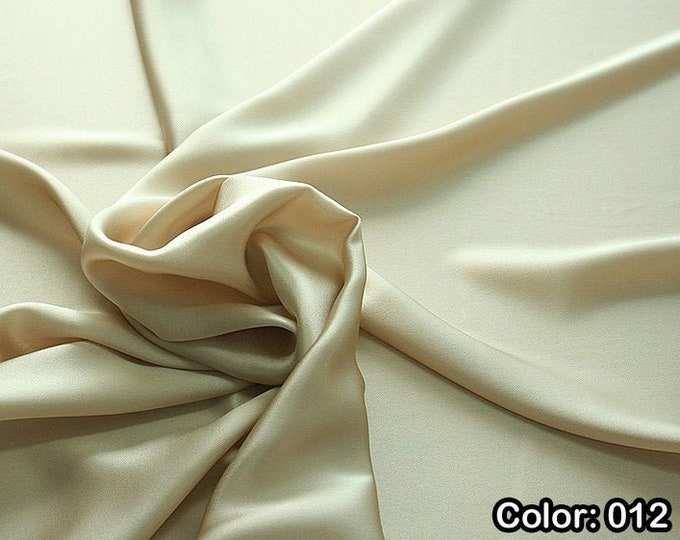 Crepe Satin 812 - Natural silk 100%, Width 135/140 cm, Dry wash, Weight 98 gr, Price 0.25 meters: 12.68 Euros