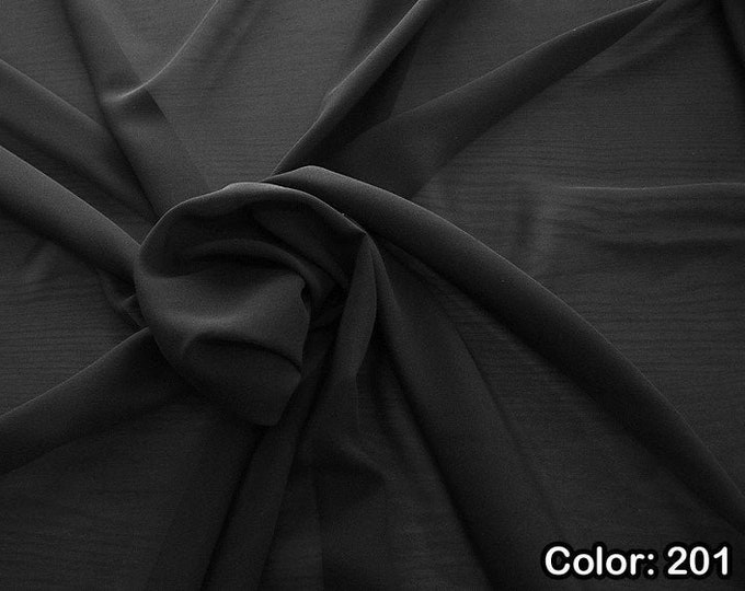 Georgette 1716, 3rd Part - Natural Silk 100%, Width 135/140 cm, Dry Wash, Weight 60 gr, Price 0.25 meters: 10.59 Euros