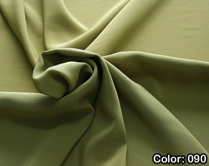 Crepe marocaine 305, 2nd Part - Natural silk 100%, Width 130/140 cm, Dry wash, Weight 215 gr, Price 0.25 meters: 26.09 Euros