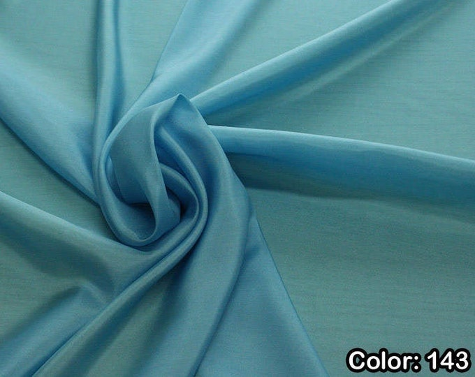 Taffeta 402, 3rd Part - natural silk 100%, Width 110 cm, Dry wash, Weight 58 gr, Price 0.25 meters: 6.63 Euros