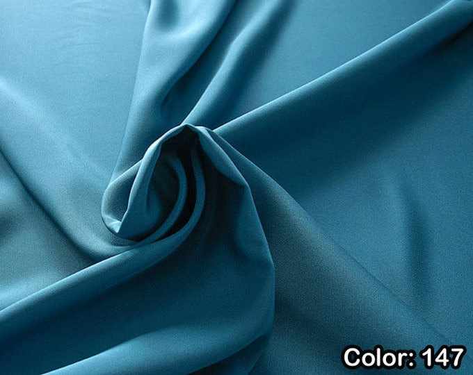 Crepe marocaine 305, 3rd Part - Natural silk 100%, Width 130/140 cm, Dry wash, Weight 215 gr, Price 0.25 meters: 26.09 Euros