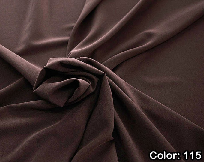 Crepe 905, Part 2 - 100% Polyester, Width 150 cm, Made in Italy, Dry Wash, Weight 306 gr, Price 0.25 meters: 8.14 Euros
