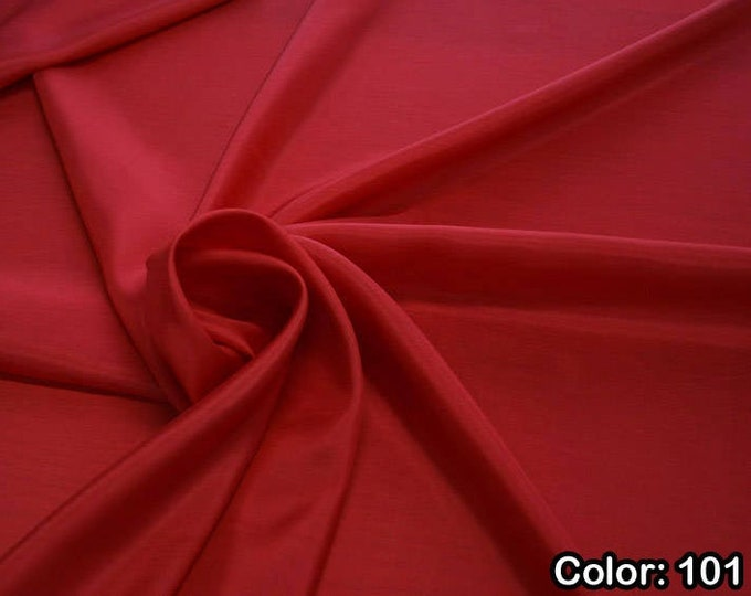 Taffeta 402, 2nd Part - natural silk 100%, Width 110 cm, Dry wash, Weight 58 gr, Price 0.25 meters: 6.63 Euros
