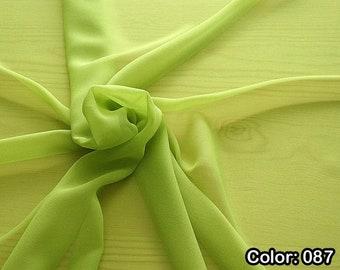Georgette 316, Part 2 - Natural Silk 100%, Width 135/140 cm, Dry Wash, Weight 50 gr, Price 0.25 meters: 9.08 Euros