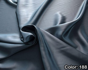 Crepe Satin 1712, 4th Part - natural silk 100%, Width 135/140 cm, Dry wash, Weight 100 gr, Price 0.25 meters: 14.72 Euros