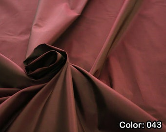 Taffeta 442, Natural silk 100%, Width 135/140 cm, Dry wash, Weight 102 gr, Price 0.25 meters: 10.79 Euros
