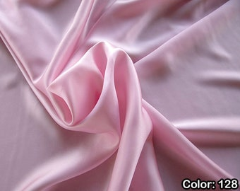 Crepe Satin 1712, 3rd Part - Natural Silk 100%, Width 135/140 cm, Dry Wash, Weight 100 gr, Price 0.25 meters: 14.72 Euros