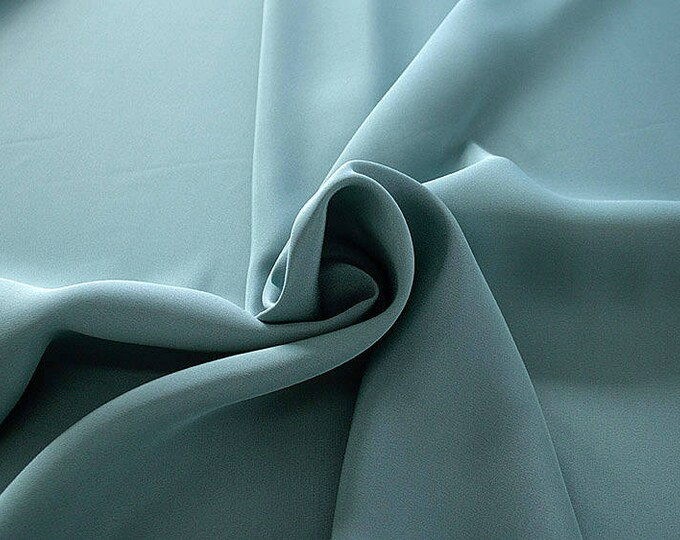 305098-Crepe marocaine, natural silk 100%, wide 130/140 cm, made in Italy, dry washing, weight 215 gr, Price 0.25 meters: 26.09 Euros