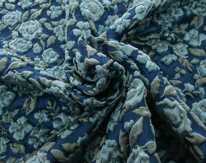 990082-155 JACQUARD-Pl 67%, Pa 18, Se 15, width 130 cm, made in Italy, dry wash, weight 221 gr, price 0.25 meters: 24.88 Euros