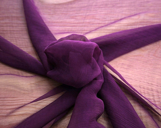 326220-Chiffon, natural silk 100%, wide 127/130 cm, dry wash, weight 29 gr, Price 0.25 meters: 7.94 Euros
