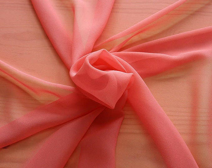316105-Georgette, natural silk 100%, wide 135/140 cm, dry wash, weight 50 gr, price 0.25 meters: 9.08 Euros
