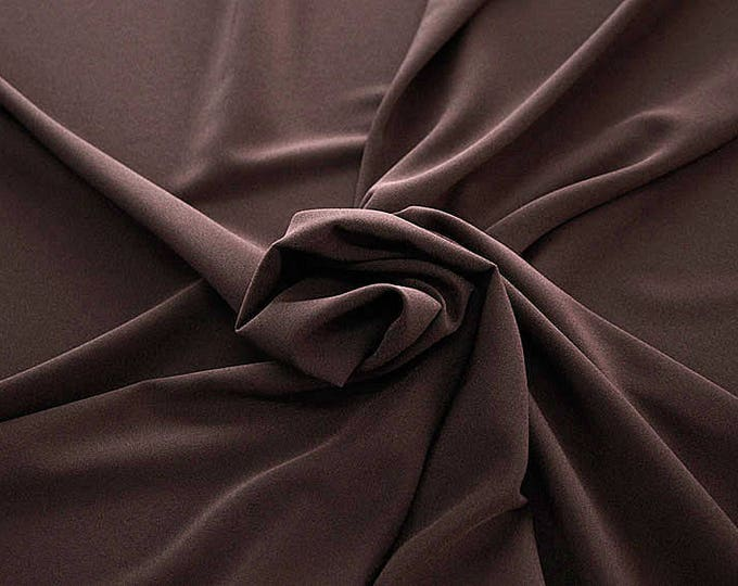 905115-Crepe 100% Polyester, 150 cm wide, made in Italy, dry washing, weight 306 gr, Price 0.25 meters: 8.14 Euros